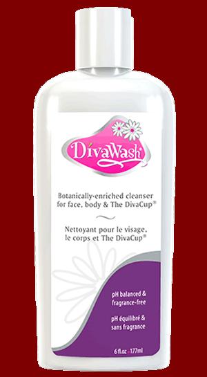 DivaWash wasmiddel om menstruatiecup te reinigen