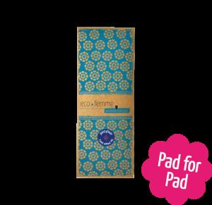 3 inlegkruisjes van Eco Femme, zonder pul, verpakking