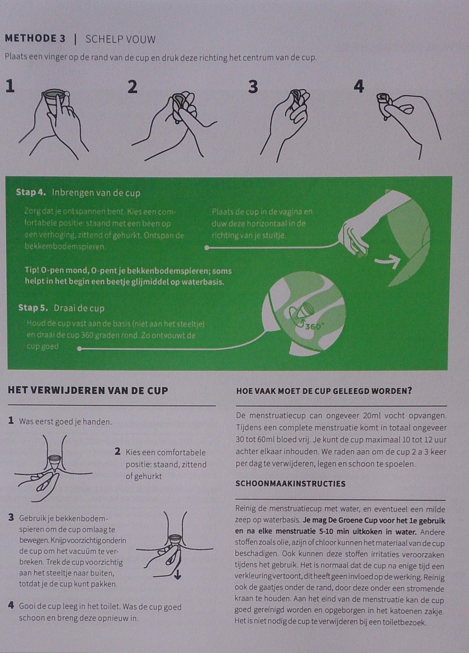 Deel uit de handleiding van De Groene Cup