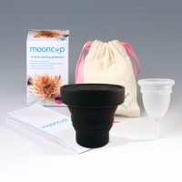 Mooncup UK, maat A met sterilisator