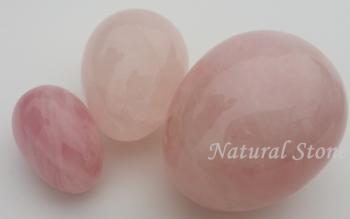3 x Rose quartz Yoni Ei