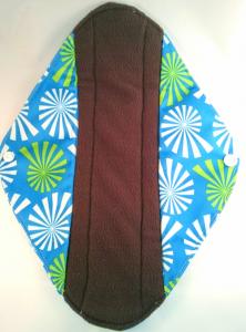 OhBabyKa Large / Blauw patroon (wasbaar inlegkruisje) Bamboe charcoal