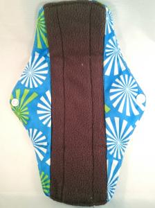 OhBabyKa Medium / Blauw patroon (wasbaar inlegkruisje) Bamboe charcoal
