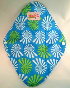 OhBabyKa Large / Blauw patroon (wasbaar inlegkruisje) Bamboe charcoal / onderkant