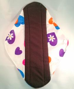 OhBabyKa Large / Wit patroon (wasbaar inlegkruisje) Bamboe charcoal