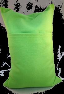 Kersenpitkussen 20 x 30 Groen, achterzijde