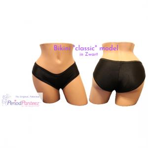 PeriodPanteez klassiek bikini model zwart